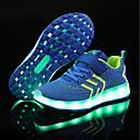 baratos Sapatos de Menina-Para Meninos / Para Meninas Sapatos Tricô / Tule Primavera Verão Conforto / Tênis com LED Tênis LED para Preto / Azul / Rosa claro