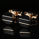 זול אביזרים לגברים-Geometric Shape מוזהב חפתים נחושת / סגסוגת מַתַכתִי / אופנתי בגדי ריקוד גברים תכשיטי תלבושות עבור חתונה / מתנה