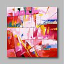 abordables Ropa para Perro-Pintura al óleo pintada a colgar Pintada a mano - Abstracto Contemporáneo / Modern Incluir marco interior / Lona ajustada