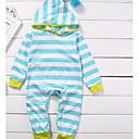 ieftine Set Îmbrăcăminte Bebeluși-Bebelus Fete De Bază Dungi Manșon Lung Bumbac Salopetă