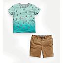 ieftine Top Băieți-Copii Băieți Galaxie Manșon scurt Set Îmbrăcăminte