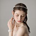billige Hundeklær-Perle drakter med Blomst 4 deler Bryllup / Fest / aften Hodeplagg