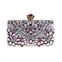 cheap Clutches & Evening Bags-Women's Bags Polyester Evening Bag Beading / Crystals Floral Print Blushing Pink