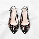 povoljno Ženske sandale-Žene Cipele Sintetika Ljeto Obične salonke Sandale Stiletto potpetica Peep Toe Crn / Bež / Pink