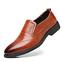 cheap Men's Slip-ons & Loafers-Men's Formal Shoes Cowhide Fall Oxfords Striped Black / Brown / Party & Evening / Novelty Shoes