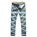 cheap Human Hair Wigs-men's cotton slim jeans pants - solid colored