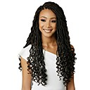 "cheap Hair Braids-Braiding Hair Wavy Twist Braids / Curly Braids / Pre-loop Crochet Braids Synthetic Hair 1 Piece, 24 roots / pack Hair Braids 18"" Dreadlock Extensions / 100% kanekalon hair / Crochet Faux Dreads"