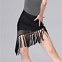 preiswerte Rubiks Würfel-Latein-Tanz Unten Damen Leistung Eis-Seide Muster / Druck / Horizontal gerüscht / Quaste Normal Röcke