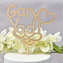 cheap Cake Toppers-Cake Topper Classic Theme / Wedding Love Wooden / Bamboo Wedding / Anniversary with Net 1 pcs OPP