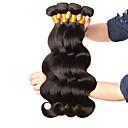 cheap Human Hair Capless Wigs-4 Bundles Brazilian Hair Wavy 8A Human Hair Natural Color Hair Weaves / Hair Bulk Extension 8-28 inch Natural Color Human Hair Weaves New Arrival 100% Virgin Human Hair Extensions Women's