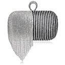 cheap Clutches & Evening Bags-Women's Bags Polyester / Alloy Evening Bag Crystals / Tassel Gold / Black / Rainbow