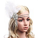 cheap Jewelry Sets-The Great Gatsby Vintage / 1920s Costume Women's Flapper Headband White / Black Vintage Cosplay Feather Sleeveless