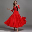 cheap Ballroom Dance Wear-Ballroom Dance Dresses Women's Performance Chiffon / Lace / Tulle Ruching / Split Joint High Dress