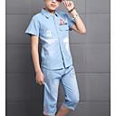 ieftine Pantaloni Băieți-Copii Băieți De Bază Mată Manșon scurt Bumbac Set Îmbrăcăminte