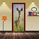 preiswerte Golfrücksacke-Dekorative Wand Sticker / Türaufkleber - Ferien-Wand-Aufkleber Tiere / 3D Wohnzimmer / Schlafzimmer