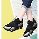 זול סניקרס לנשים-בגדי ריקוד נשים נעליים PU אביב נוחות נעלי ספורט פלטפורמה שחור / כסף