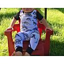 ieftine Set Îmbrăcăminte Bebeluși-Bebelus Fete De Bază Imprimeu De Bază Mânecă scurtă Bumbac / Poliester Salopetă Alb 100