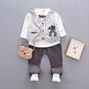 ieftine Set Îmbrăcăminte Băieți Bebeluși-Bebelus Băieți Activ Sport Imprimeu Manșon scurt Bumbac Set Îmbrăcăminte