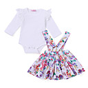ieftine Set Îmbrăcăminte Bebeluși-Bebelus Fete Activ Ieșire Imprimeu Manșon scurt Set Îmbrăcăminte
