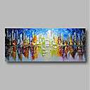 cheap Rolled Canvas Paintings-Oil Painting Hand Painted - Abstract / Landscape Comtemporary Canvas