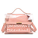cheap Bag Sets-Women's Bags PVC(PolyVinyl Chloride) / PU(Polyurethane) Bag Set 2 Pieces Purse Set Buttons / Zipper Black / Blushing Pink / Yellow