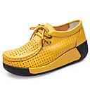 זול סניקרס לנשים-בגדי ריקוד נשים נעליים עור אביב קיץ נוחות נעלי אוקספורד מטפסים שחור / צהוב / אדום / מסיבה וערב