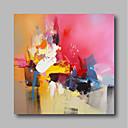 זול ציורי שמן-ציור שמן צבוע-Hang מצויר ביד - מופשט עכשווי / מודרני כלול מסגרת פנימית / בד מתוח
