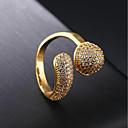 Χαμηλού Κόστους Μοδάτο Δαχτυλίδι-Γυναικεία Cubic Zirconia Σύμπλεγμα Band Ring 18Κ Χρυσό Stea κυρίες Μοντέρνα Μοδάτο Δαχτυλίδι Κοσμήματα Χρυσό Για Πάρτι Καθημερινά 7 / 8