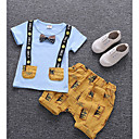 ieftine Set Îmbrăcăminte Băieți Bebeluși-Bebelus Băieți De Bază Zilnic Imprimeu Manșon scurt Regular Regular Bumbac Set Îmbrăcăminte Alb 100 / Copil