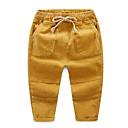 ieftine Pantaloni Băieți-Copii Băieți Șic Stradă Mată Bumbac Pantaloni Kaki 100