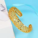ieftine Husă Scaun Auto-Pentru femei Brățări Bangle Brățări Bantă Sculptură femei Έθνικ Placat Auriu Bijuterii brățară Auriu Pentru Petrecere Cadou