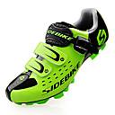 abordables Chaussures de Cyclisme-SIDEBIKE Chaussures VTT Vélo tout terrain Fibre de Carbone Etanche, Ultra léger (UL) Cyclisme Noir / Rouge / Vert Homme Chaussures Vélo / Chaussures de Cyclisme / Grille respirante / Scratch