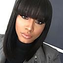 billige Kostymeparykk-Remy-hår Blonde Forside Parykk Brasiliansk hår Rett Parykk Kort bob Midtdel 130% Hair Tetthet Naturlig hårlinje Med Blekt Knotter Dame Kort Blondeparykker med menneskehår Lokker