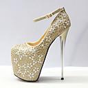 זול מגפי נשים-בגדי ריקוד נשים נעליים סינטטיים סתיו חורף בלרינה בייסיק עקבים עקב סטילטו בוהן עגולה ריינסטון / אבזם זהב / חתונה / מסיבה וערב