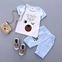 ieftine Top Bebeluși-Bebelus Unisex Imprimeu Manșon scurt Set Îmbrăcăminte