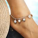 ieftine Brățară Gleznă-Brățară Gleznă - Inimă, Minge Modă, Elegant Argintiu Pentru Cadou Concediu Pentru femei