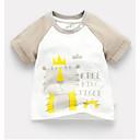 halpa Vauvojen Pojat yläosat-Vauva Poikien Perus Päivittäin Painettu Patchwork Lyhythihainen Normaali Puuvilla T-paita Harmaa / Taapero