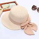 cheap Party Headpieces-Women's Active / Holiday Straw Hat - Solid Colored Ruffle