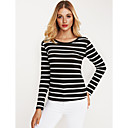 cheap Totes-Women's Active T-shirt - Striped / Fall / Winter / Fine Stripe