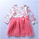 tanie Zestawy ubrań dla niemowląt-Dziecko Dla dziewczynek Aktywny Kolorowy blok Długi rękaw Spandeks Sukienka Fuksja 100 / Brzdąc