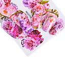 abordables Decoraciones y Diamantes Sintéticos para Manicura-5 pcs Adhesivos arte de uñas Manicura pedicura Colorido Calcomanías de uñas Ropa Cotidiana / Festival