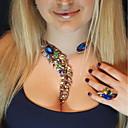 preiswerte Modische Halsketten-Damen Kristall Nicht übereinstimmend Halsketten / Statement Ketten / Y Halskette - Alphabet Form damas, Anhänger Stil, Böhmische, Modisch Blau, Rosa, Hellblau 33 cm Modische Halsketten Schmuck 1pc Für