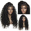 cheap Synthetic Lace Wigs-Synthetic Lace Front Wig Women's Curly Black Layered Haircut Synthetic Hair with Baby Hair / Heat Resistant / Natural Hairline Black Wig Long Lace Front Natural Black Dark Brown Modernfairy Hair