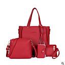cheap Bag Sets-Women's Bags PU(Polyurethane) Bag Set 4 Pieces Purse Set Zipper / Tassel Green / Red / Khaki
