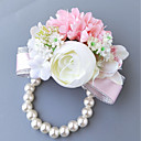 cheap Wedding Flowers-Wedding Flowers Boutonnieres / Wrist Corsages Wedding / Party Evening Polyester 3.94 inch
