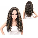 cheap Synthetic Capless Wigs-Synthetic Wig Women's Wavy Black Middle Part Synthetic Hair Heat Resistant / Synthetic / African American Wig Black / Dark Brown Wig Long Capless Black / Brown / Yes