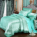 cheap High Quality Duvet Covers-Duvet Cover Luxury Polyster Jacquard 4 PieceBedding Sets / 300 / 4pcs (1 Duvet Cover, 1 Flat Sheet, 2 Shams)