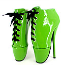 ieftine Tocuri de Damă-Pentru femei Pantofi PU Primavara vara Noutăți Tocuri Toc Stilat Vârf rotund Cataramă Verde / Albastru / Roz / Party & Seară