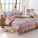 cheap Contemporary Duvet Covers-Duvet Cover Sets Stripes / Ripples Polyster Printed 4 PieceBedding Sets / 400 / 4pcs (1 Duvet Cover, 1 Flat Sheet, 2 Shams)