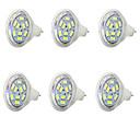 halpa Bi-pin LED-lamput-6kpl 1.5 W 250 lm MR11 LED-kohdevalaisimet MR11 9 LED-helmet SMD 5730 Kylmä valkoinen